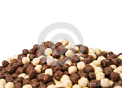 Chocolate cereals isolated
