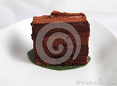 Chocolate charlotte mousse cake