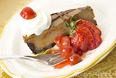 Chocolate Cherry Cheesecake