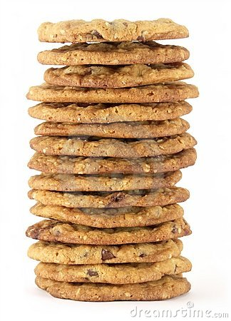 Chocolate Chip Cookie Tower 1