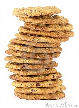 Free Chocolate Chip Cookie Tower 2 Stock Photo - 1710960