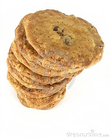 Free Chocolate Chip Cookie Tower 4 Royalty Free Stock Photo - 1710945