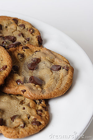 Free Chocolate Chip[ Cookies Stock Photography - 1434922