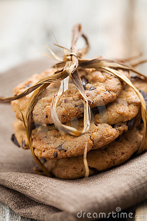 Free Chocolate Chip Cookies Stock Photography - 18753442