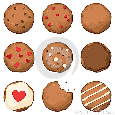 Free Chocolate Chip Cookies Set Royalty Free Stock Photography - 25773937