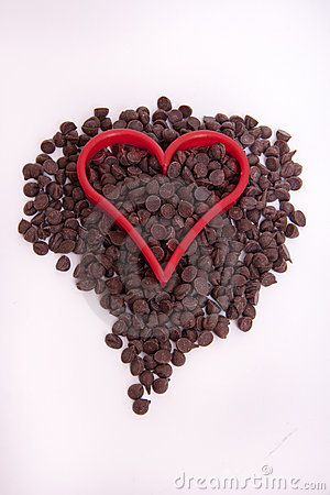Chocolate Chip with Red Heart