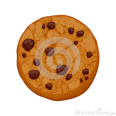 Free Chocolate Chips Cookie Vector Illustration Royalty Free Stock Photography - 52699777