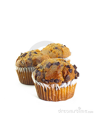 Free Chocolate Chips Muffins Stock Photo - 17058740