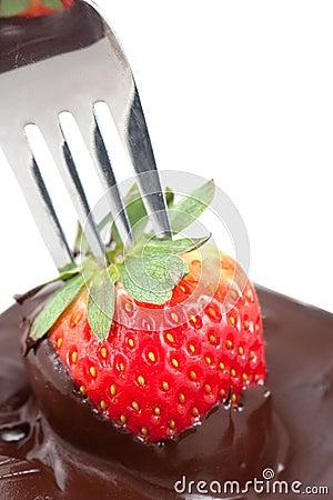 Chocolate Coating Strawberries