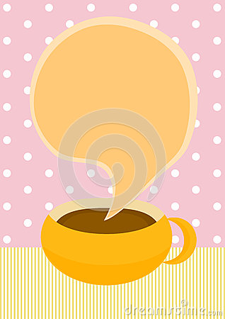 Chocolate or Coffee cup invitation card