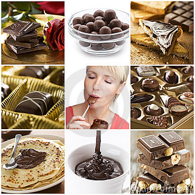 Free Chocolate Collage Royalty Free Stock Photography - 12139027