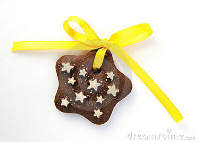 Chocolate Cookies With Yellow Bow