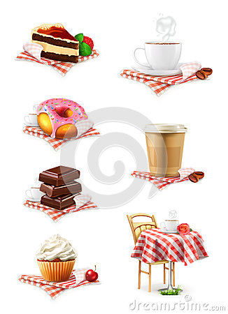 Free Chocolate, Cupcake, Cake, Cup Of Coffee And Donut, Royalty Free Stock Photo - 57245985