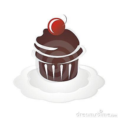 Chocolate Cupcake Dessert with Cherry