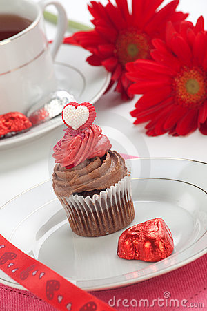 Chocolate Cupcake for Valentine Day
