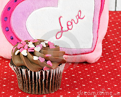 Chocolate Cupcake for Valentines Day