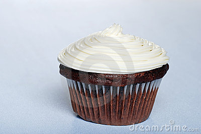 Chocolate cupcake with vanilla frosting