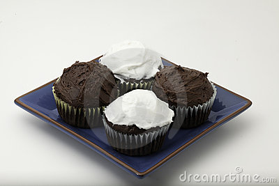 Chocolate cupcakes with icing