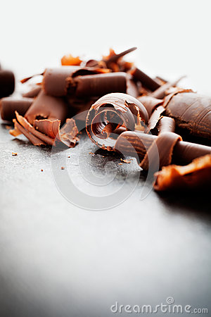 Free Chocolate Curls Royalty Free Stock Photography - 34580187