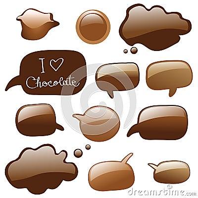 Chocolate dialog bubbles