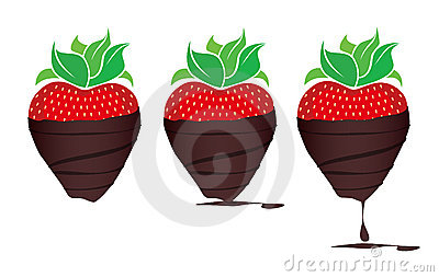 Royalty Free Stock Images  Chocolate-dipped StrawberriesCartoon Chocolate Covered Strawberry