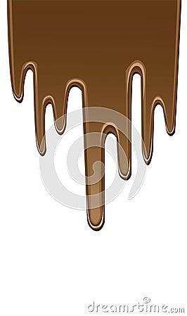 Chocolate do gotejamento