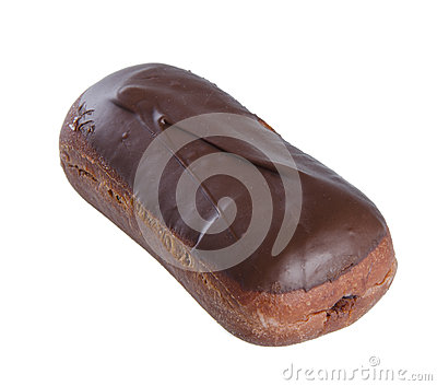 Chocolate donuts on a background