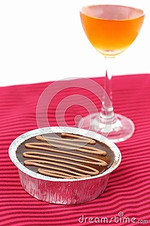Chocolate e vinho do bolo