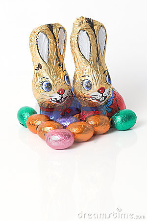 Free Chocolate Easter Bunnies Stock Photography - 1943132
