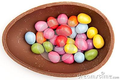 Chocolate Easter Egg Half