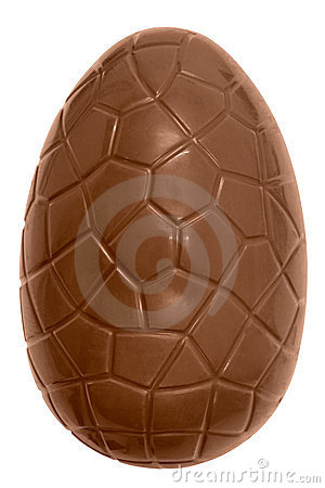 Free Chocolate Easter Egg Isolated Royalty Free Stock Image - 23731316