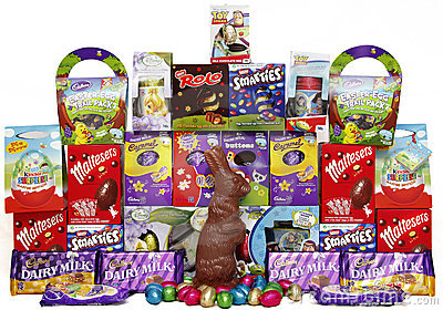 Chocolate Easter eggs Editorial Image