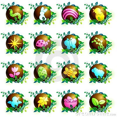 Free Chocolate Easter Icons Royalty Free Stock Images - 17735899