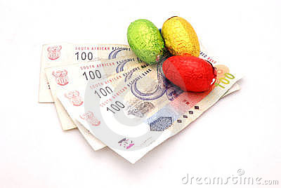 Chocolate eggs on Rands