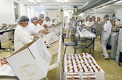 Chocolate factory employees Editorial Photography