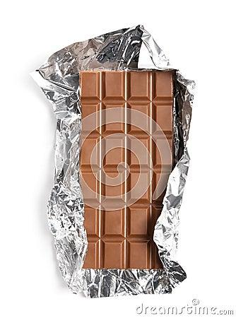 Chocolate in a foil