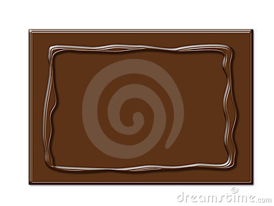Chocolate frame in rectangle shape