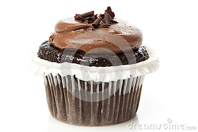 Chocolate Frosted Cupcake Stock Photo - Image: 25339600