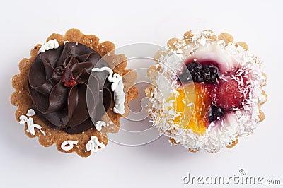 Chocolate and fruit pie