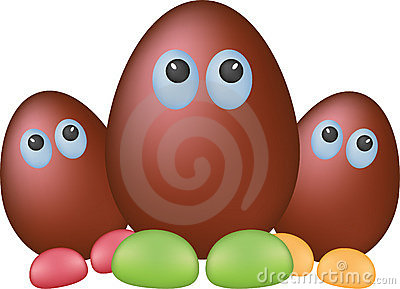 Chocolate funny eggs