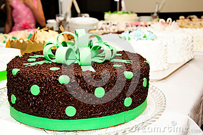 Chocolate green cake