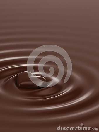 Free Chocolate Heart Royalty Free Stock Photography - 65608607