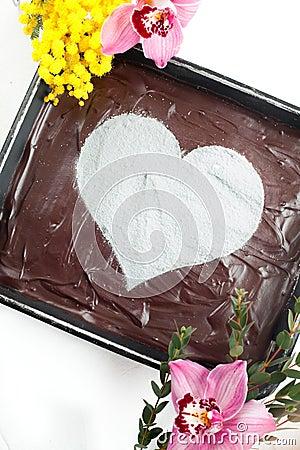 Chocolate Heart Cheesecake