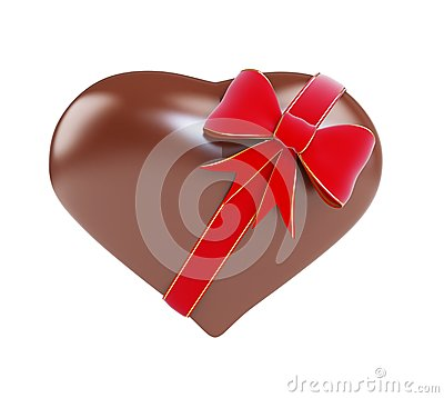 Chocolate heart gift