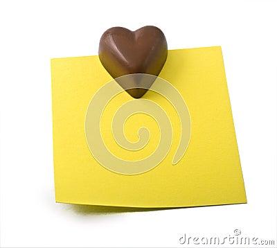 Chocolate heart note