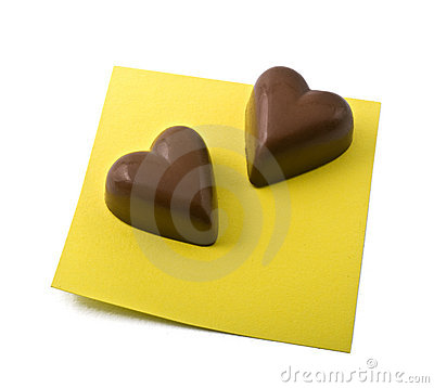 Chocolate heart note