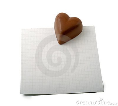 Free Chocolate Heart Note Royalty Free Stock Photos - 7257728