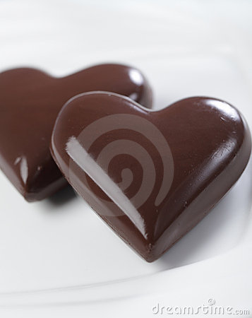 Free Chocolate Hearts Royalty Free Stock Photography - 17941117