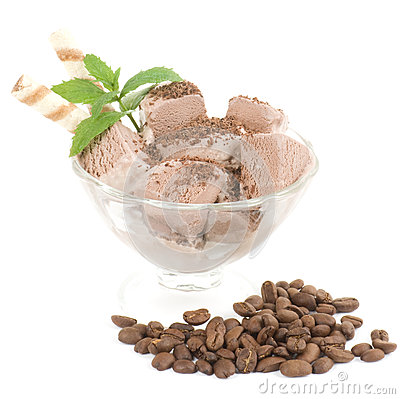 Chocolate ice cream desserts