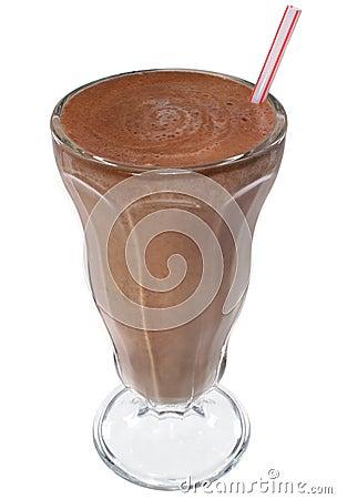 Chocolate Ice Cream Milkshake Drink Stock Photography
